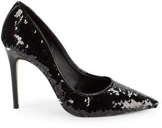 Ava & Aiden Sequence Sequin Point Toe Pumps