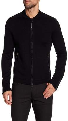 John Varvatos Collection Slim Fit Zip Front Sweater