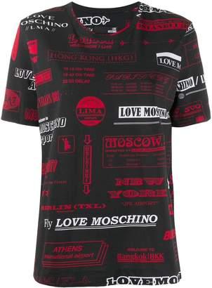 Love Moschino travel print T-shirt