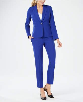 Le Suit One-Button Crepe Pantsuit