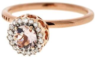 Selim Mouzannar Large Morganite and Diamond Frame Ring
