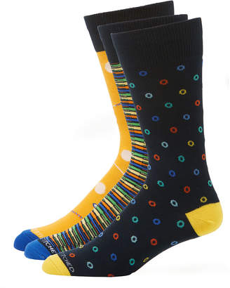 Unsimply Stitched Men's Multicolor/Pattern Socks, 3-Pair