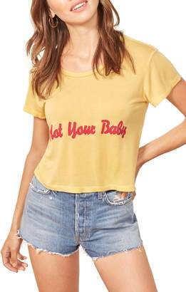 Reformation Hanna Not Your Baby Crop Tee