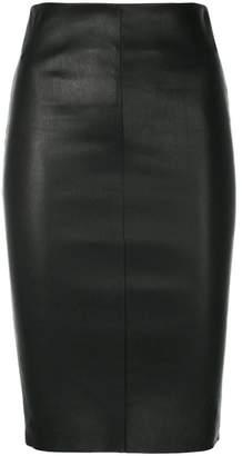 Drome leather bodycon skirt