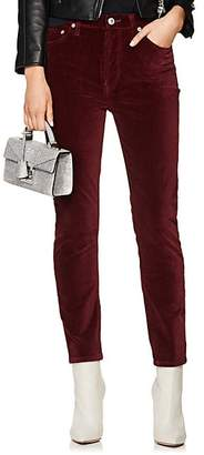 RE/DONE Women's Velvet High Rise Crop Jeans - Wine