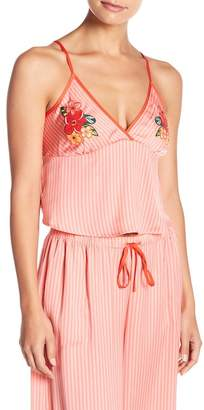 Nordstrom Room Service Cropped Satin Camisole