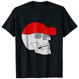 Spooky Halloween Skull with Cap T-Shirt