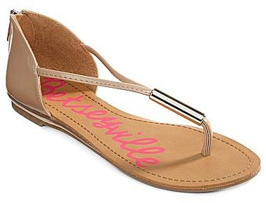 Betseyville by Betsey Johnson Moxie Closed-Back Thong Sandals