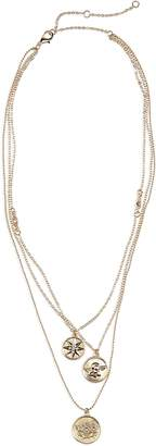 BP Three-Layer Charm Necklace