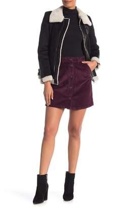 Vero Moda Corduroy Button Front Mini Skirt