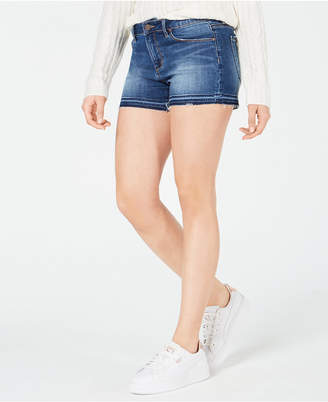 Articles of Society Zina Frayed-Hem Denim Shorts