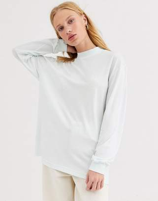 And other stories &  oversized jersey funnel neck in mint green