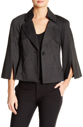Nine West One Button Poncho Jacket $129 thestylecure.com
