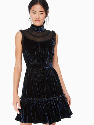 Kate Spade Leopard-print velvet lace dress