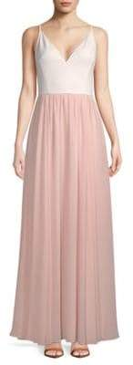 Vera Wang Sleeveless Crepe Gown