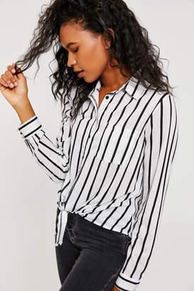 Ardene Button-Down Tie-Front Shirt