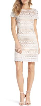 Eliza J Geo Lace Sheath Dress (Regular & Petite)