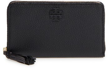 Tory Burch Women's Tory Burch Continental Leather Wallet - Black