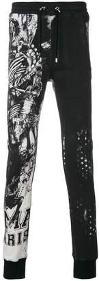 Balmain printed track pants