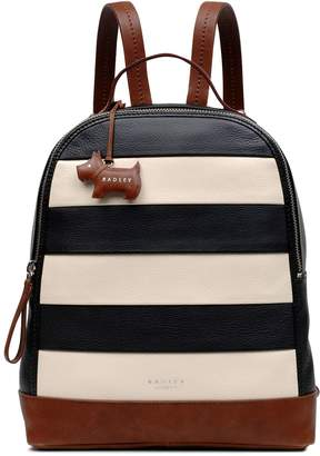 Radley Babington stripe medium backpack