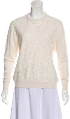 Draper James Lace-Accented Sweater
