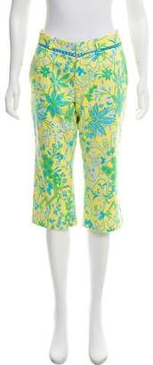 Tibi Floral Print Crop Pants
