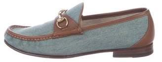 Gucci 1953 Denim Horsebit Loafers