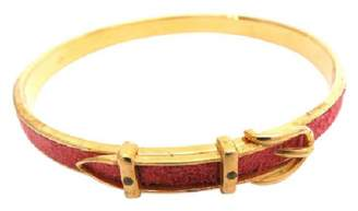 Hermes Red Metal Bracelet