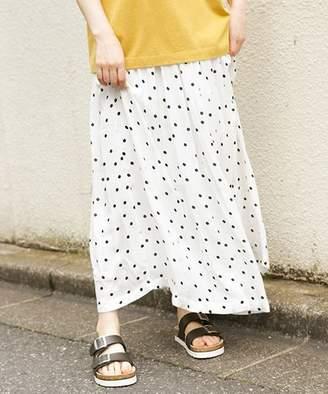 niko and (ニコ アンド) - レーヨンドットペチ付きギャザースカート