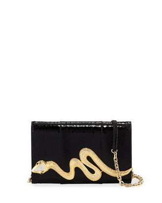 Judith Leiber Couture Serpent Snakeskin Clutch Bag