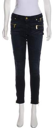 MICHAEL Michael Kors Mid-Rise Moto Jeans