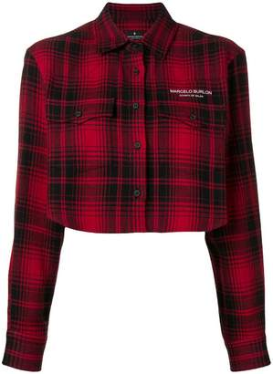 Marcelo Burlon County of Milan cropped checked jacket