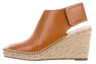 Celine Leather Espadrille Wedges w/ Tags