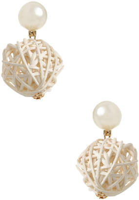 Amrita Singh Women's Straw Ball Statement Earrings