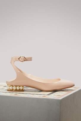 Nicholas Kirkwood Lola Patent Leather Ballerina Flats