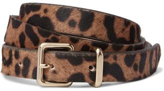 J.Crew - Leopard-print Calf Hair Belt - Leopard print $80 thestylecure.com