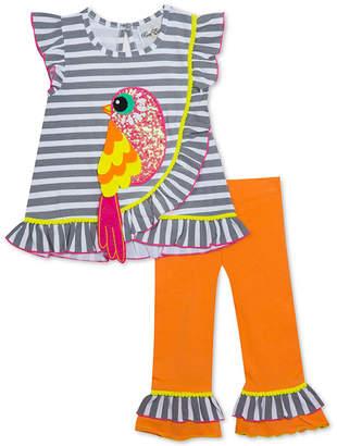 f006ecbf18c9e Rare Editions Toddler & Little Girls 2-Pc. Ruffle-Trim Bird Tunic &