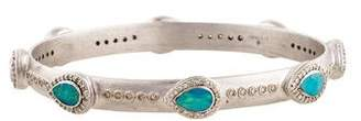 Armenta Boulder Opal & Diamond New World Bangle