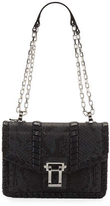 Proenza Schouler Hava Chain Leather Crossbody Bag, Gray