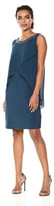 S.L. Fashions Women's Sleeveless Tulip Chiffon Pop Over Dress