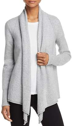 AQUA Cashmere Drape Front Cashmere Cardigan - 100% Exclusive