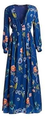 DAY Birger et Mikkelsen Borgo de Nor Francesca Crepe Long-Sleeve Maxi Dress