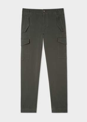 Paul Smith Men's Regular-Fit Dark Green Stretch-Cotton Pocket Trousers
