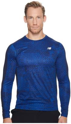 New Balance Accelerate Graphic Long Sleeve Men's Clothing
