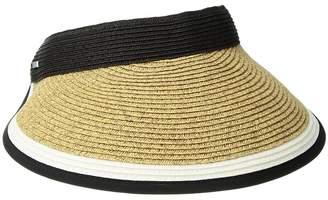 San Diego Hat Company UBV047 Visor with Contrast Color Stripe and Adjustable Back Casual Visor