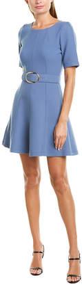 Twin-Set Twin Set Twinset Belted Wool-Blend A-Line Dress
