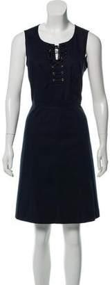 Derek Lam Sleeveless Lace-Up Dress