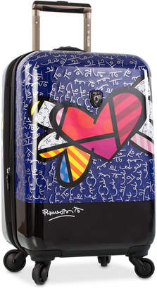"Heys Britto Heart with Wings 21"" Carry-On Expandable Hardside Spinner Suitcase"