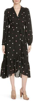 Kate Spade Bakery Dot Midi Wrap Dress