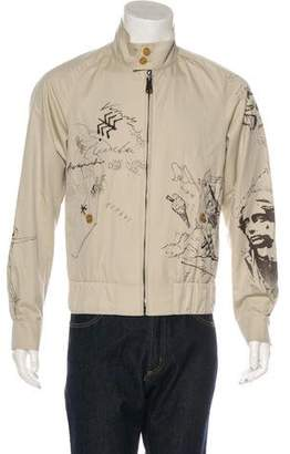 Burberry 2018 Sketch Print Harrington Jacket